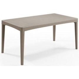 ALLIBERT GIRONA zahradní stůl 160 x 90 x 74 cm, Cappuccino 17205428
