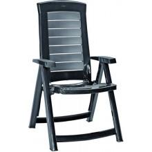 ALLIBERT ARUBA zahradní židle polohovací, 61 x 72 x 110 cm, grafit 17180080