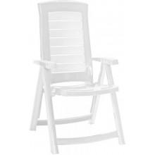 ALLIBERT ARUBA zahradní židle polohovací, 61 x 72 x 110 cm, bílá 17180080