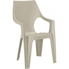 ALLIBERT DANTE zahradní židle s vysokým opěradlem, 57 x 57 x 89 cm, cappuccino 17187057