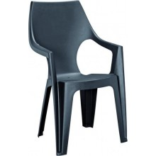 ALLIBERT DANTE zahradní židle s vysokým opěradlem, 57 x 57 x 89 cm, grafit 17187057