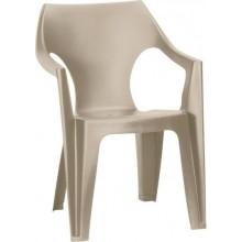 ALLIBERT DANTE zahradní židle, 57 x 57 x 79 cm, Cappuccino 17187058