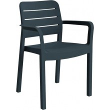 ALLIBERT TISARA zahradní židle, 53 x 58 x 83 cm, grafit 17199557