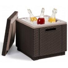 ALLIBERT ICE CUBE chladící box, 42 x 42 x 41 cm, hnědá 17194600