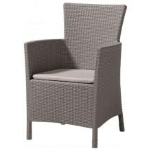 ALLIBERT IOWA zahradní židle, 62 x 60 x 89cm, Cappuccino 17197853