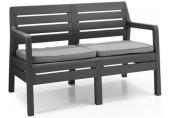 ALLIBERT DELANO 2 lavice,124 x 65 x 77cm, grafit/šedá 17205384