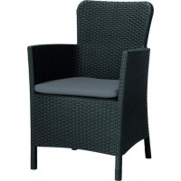 ALLIBERT MIAMI zahradní křeslo ( židle), grafit 17200037