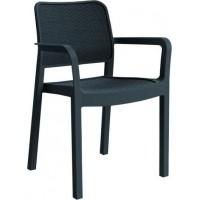 ALLIBERT SAMANNA zahradní židle, grafit 17199558