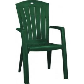 ALLIBERT SANTORINI zahradní židle, 61 x 65 x 99 cm, tmavě zelená 17180012