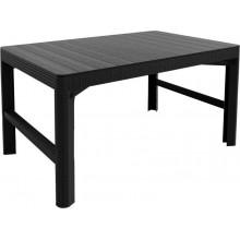 ALLIBERT LYON RATTAN zahradní stůl 116 x 71 cm, grafit 17205429