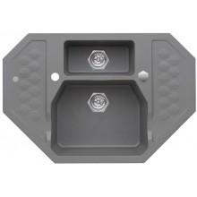 ALVEUS SENSUAL 60 kuchyňský dřez granitový, 900 x 610 mm, steel 04
