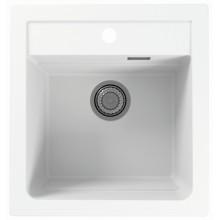 ALVEUS ATROX 20 kuchyňský dřez granitový, 470 x 500 mm, white 1131986