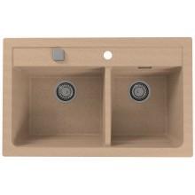 ALVEUS ATROX 50 kuchyňský dřez granitový, 790 x 500 mm, beige 1132000