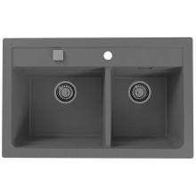 ALVEUS ATROX 50 kuchyňský dřez granitový, 790 x 500 mm, beton 1132001