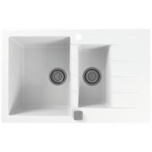 ALVEUS CADIT 70 kuchyňský dřez granitový, 790 x 500 mm, white 1131357