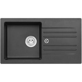 ALVEUS Cortina 140 granitový dřez, 750 x 420 mm, sifon + záslepka, černá