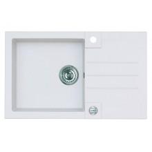 ALVEUS ROCK 130 granitový kuchyňský dřez 780x480 mm, bílá