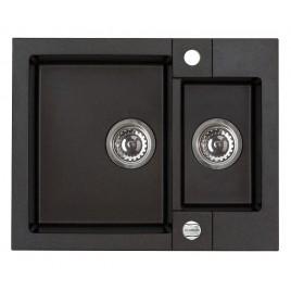 ALVEUS Rock 80 granitový kuchyňský dřez 595x475 mm, černá