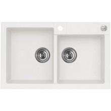 ALVEUS ROCK 90 kuchyňský dřez granitový, 780x480 mm, bílá