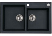 ALVEUS ROCK 90 kuchyňský dřez granitový, 780x480 mm, černá