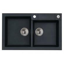 ALVEUS Rock 90 granitový kuchyňský dřez 780x480 mm, černá