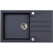 ALVEUS ROCK 130 kuchyňský dřez granitový, 780x480 mm, černý