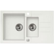 ALVEUS ROCK 70 kuchyňský dřez granitový, 780x480 mm, bílá