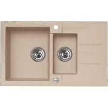 ALVEUS ROCK 70 kuchyňský dřez granitový, 780x480 mm, béžová