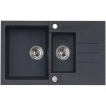 ALVEUS ROCK 70 kuchyňský dřez granitový, 780x480 mm, černá