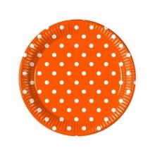 PROCOS Talíř papírový dia 23 cm, 8KS Orange Dots 4483210