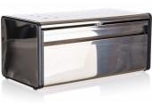 BANQUET QUADRA Chlebník nerezový, 39,5 x 20,5 x 18 cm, černý lem 48828023