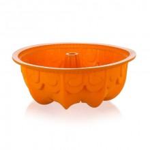 BANQUET Silikonová bábovka s reliéfem 25x9 cm Culinaria orange 3120020O