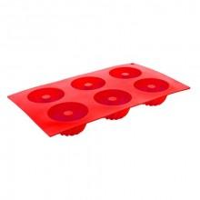 BANQUET CULINARIA Red Forma na 6 báboviček silikonová 29,5 x 17,5 x 3,5 cm 3120130R