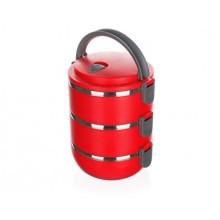 BANQUET Jídlonosič plastový CULINARIA Red 2,1l, 3 díly 48220021