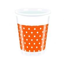 PROCOS Nápojový pohár 200 ml, 8KS Orange Dots 4483212