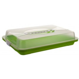 BANQUET Podnos plastový s poklopem 44,5x24x8,7 cm, zelená 557905