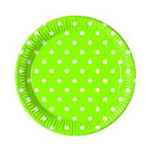 PROCOS Talíř papírový dia 23 cm, 8KS Green Dots 4483204