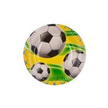 PROCOS Talíř papírový dia 19,5cm, 8KS Soccer Celebration 4484132