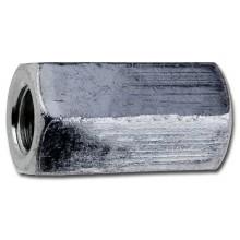 Matice prodlužovací šestihranná M6 zinek bílý, 6 ks