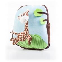 Batoh G21 s plyšovou žirafou, modrý 60026093