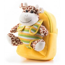 Batoh G21 s plyšovou žirafou, žlutý 60026153