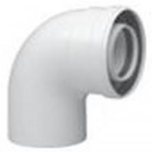 BAXI odkouření - koaxiální koleno 45 st. DN 60/100 plast, kondenzační KHG714059810