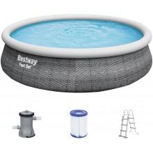 BESTWAY Bazén Fast Set, rattan 457x107 cm 57372