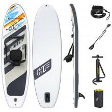 BESTWAY Paddleboard Hydro-Force White Cap Convertible Set 65341