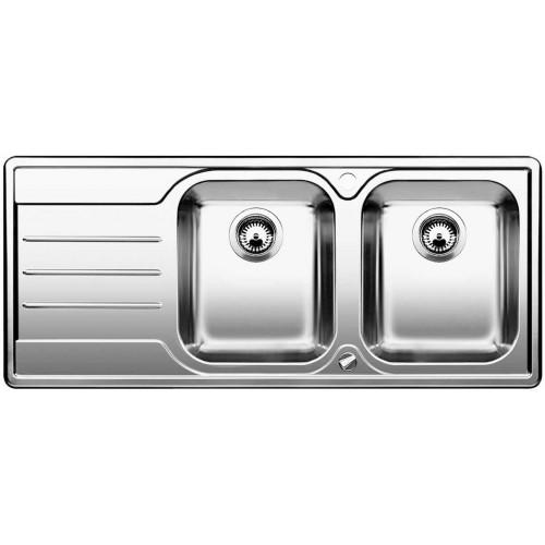 BLANCO Median 8 S dřez nerezový včetně sifonu, hedvábný lesk, pravý 512652