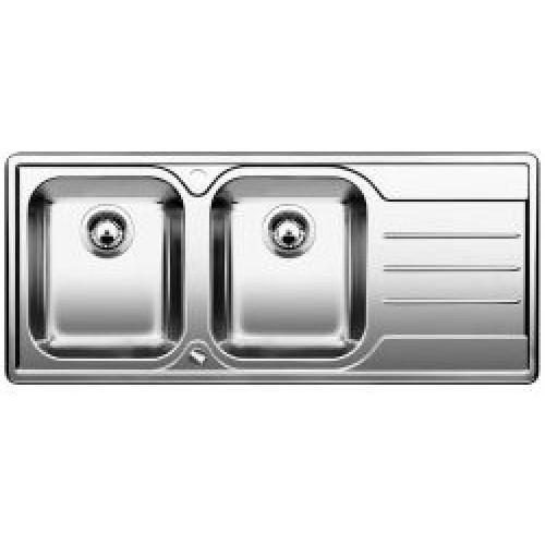 BLANCO Median 8 S dřez nerezový včetně sifonu, hedvábný lesk, levý 512653