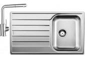BLANCO set LIVIT 45 S Salto nerez kartáčovaný 860 x 500 mm 514786 + MILA-S baterie chrom 519810