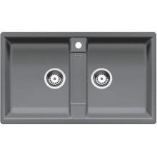 BLANCO Zia 9 dřez bez excentru, včetně sifonu, aluminium 516677