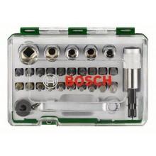 BOSCH 27dílná sada šroubovacích hrotů a nástrčných klíčů s ráčnou Extra Hard 2607017562