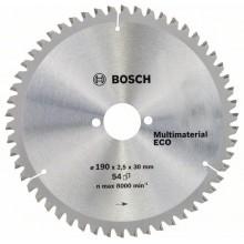BOSCH Eco for Aluminium Pilový kotouč 190x30x2,2/1,6 mm, 54 zubů 2608644389